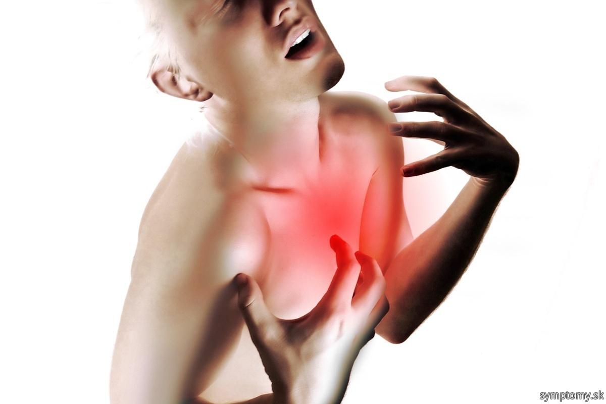 Bolesť na hrudi pri infarktu