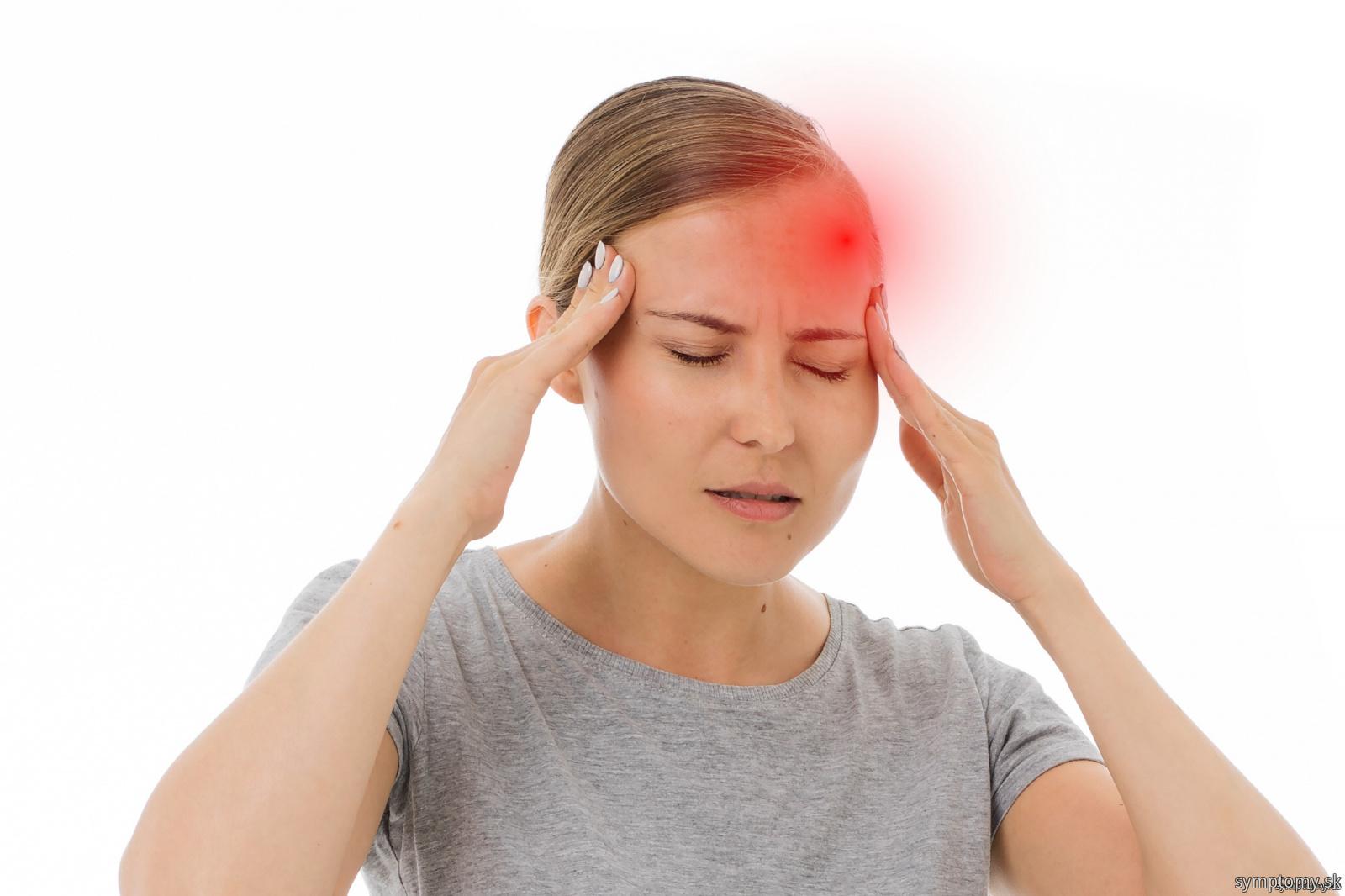 Mozgová aneuryzma - bolesť hlavy